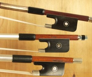 Three violin bows