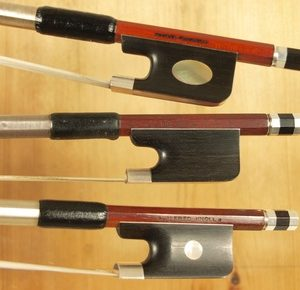 screw and frog selection of violin bow
